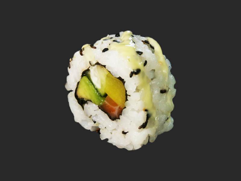 Salmon & wasabi mayonnaise roll
