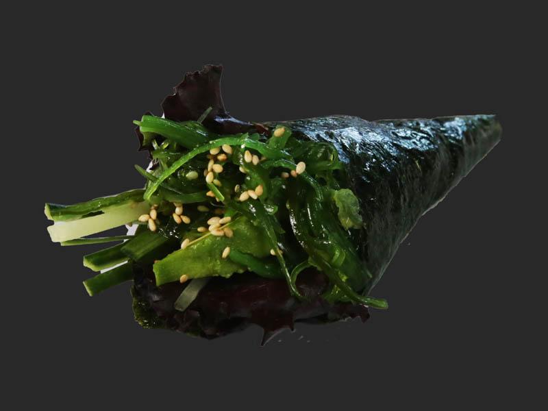 Seaweed hand roll