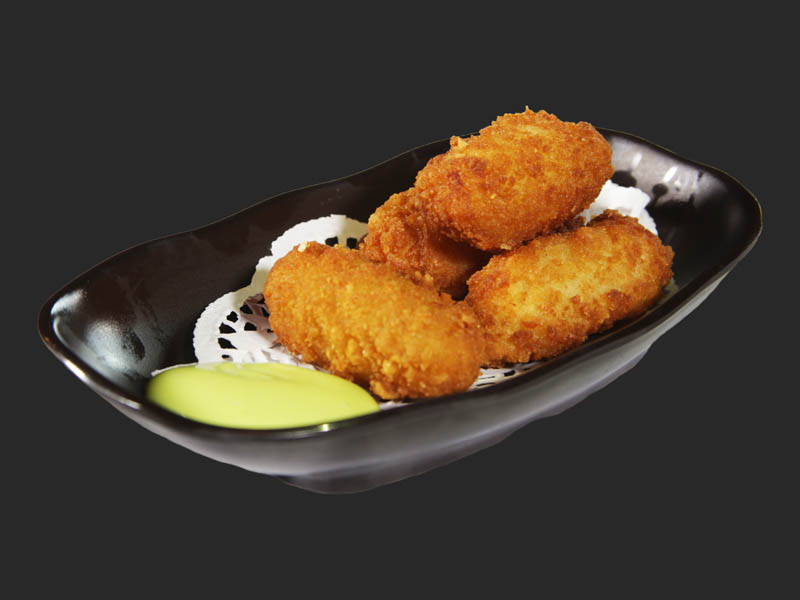 Breaded cod fillet nuggets